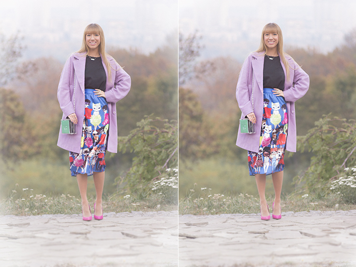 ASOS Coat With Drop Shoulder Lilac