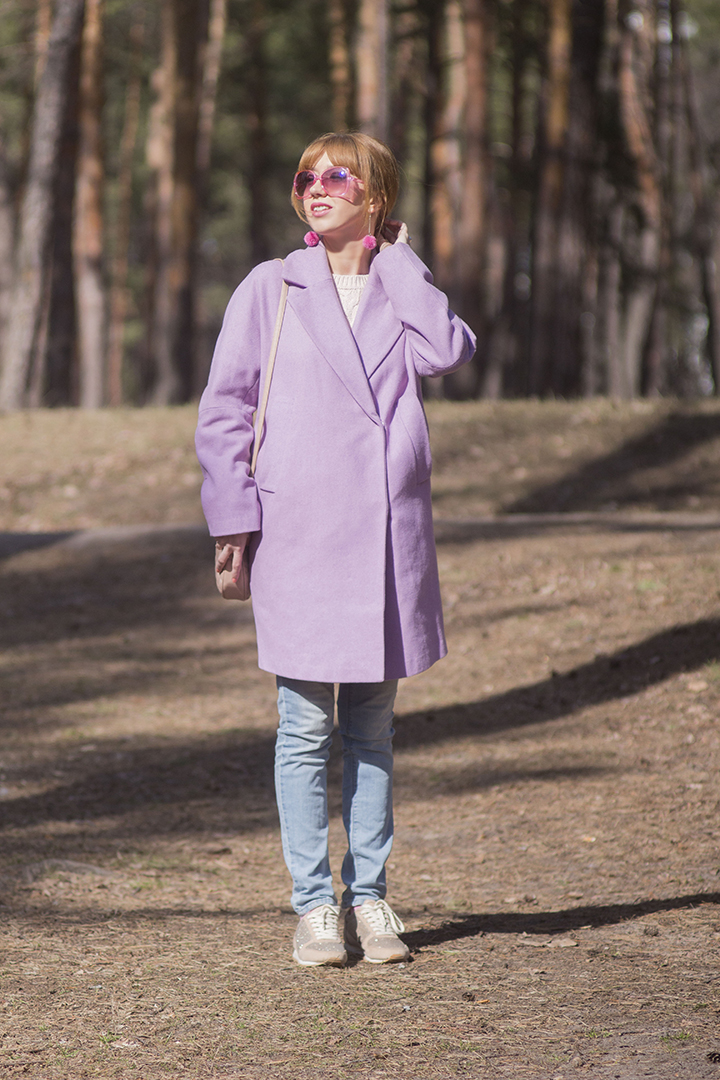 asos purple coat