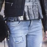 biker jacket & boyfriend jeans