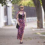 maxi skirt & skinny scarf